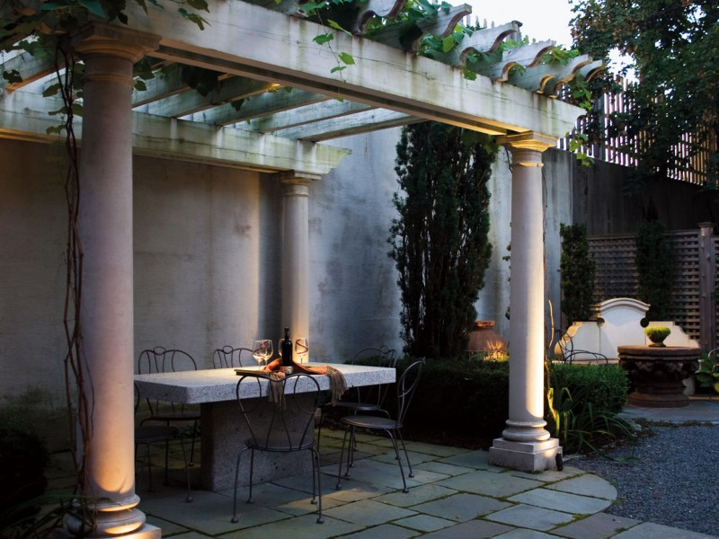 Tuscan Courtyard Design Portland Maine