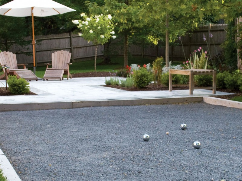Bocce Court Design Landscaping Outdoor Living