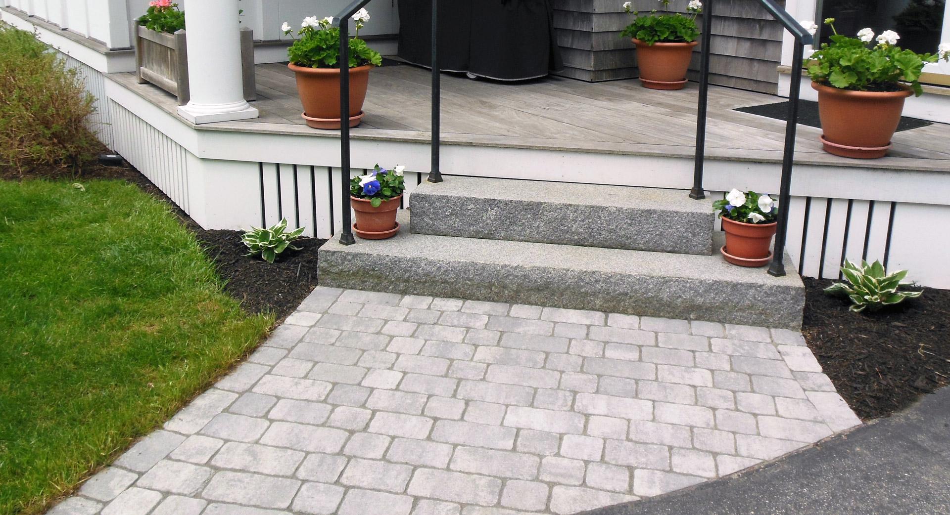 entryway-walkway-landscaping - Gnome Landscape, Design, Masonry ...