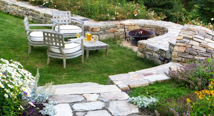 Maine Landscaping Design Stone Walls